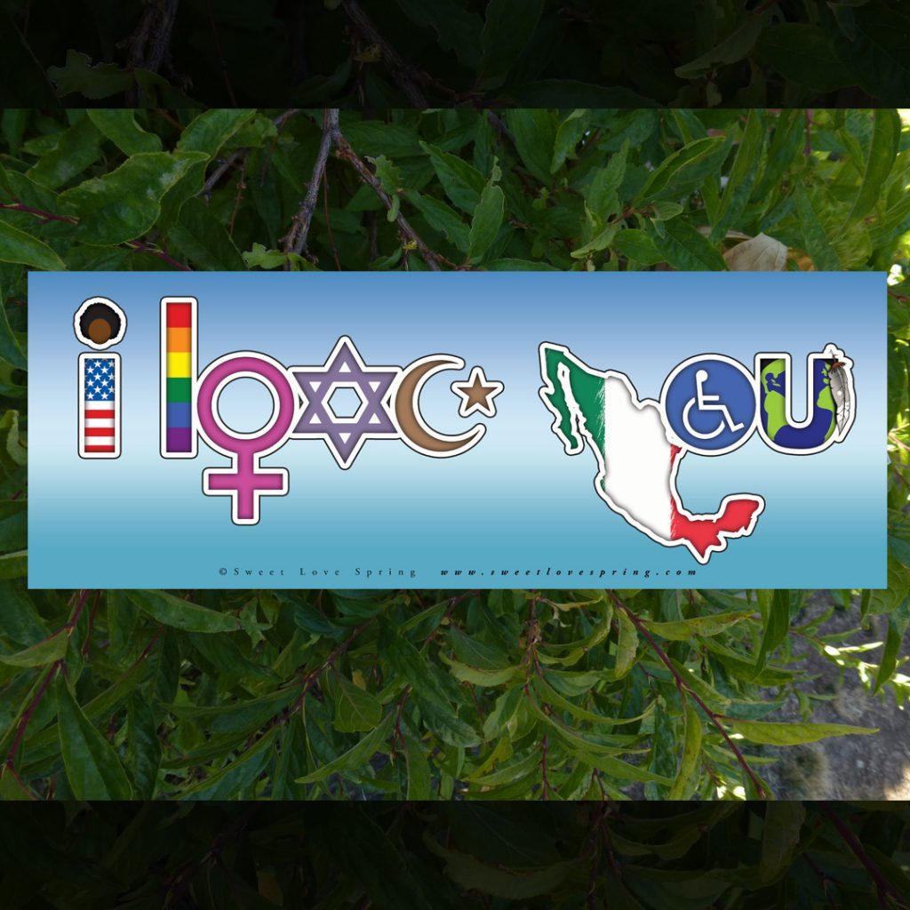 I Love You Bumper Sticker